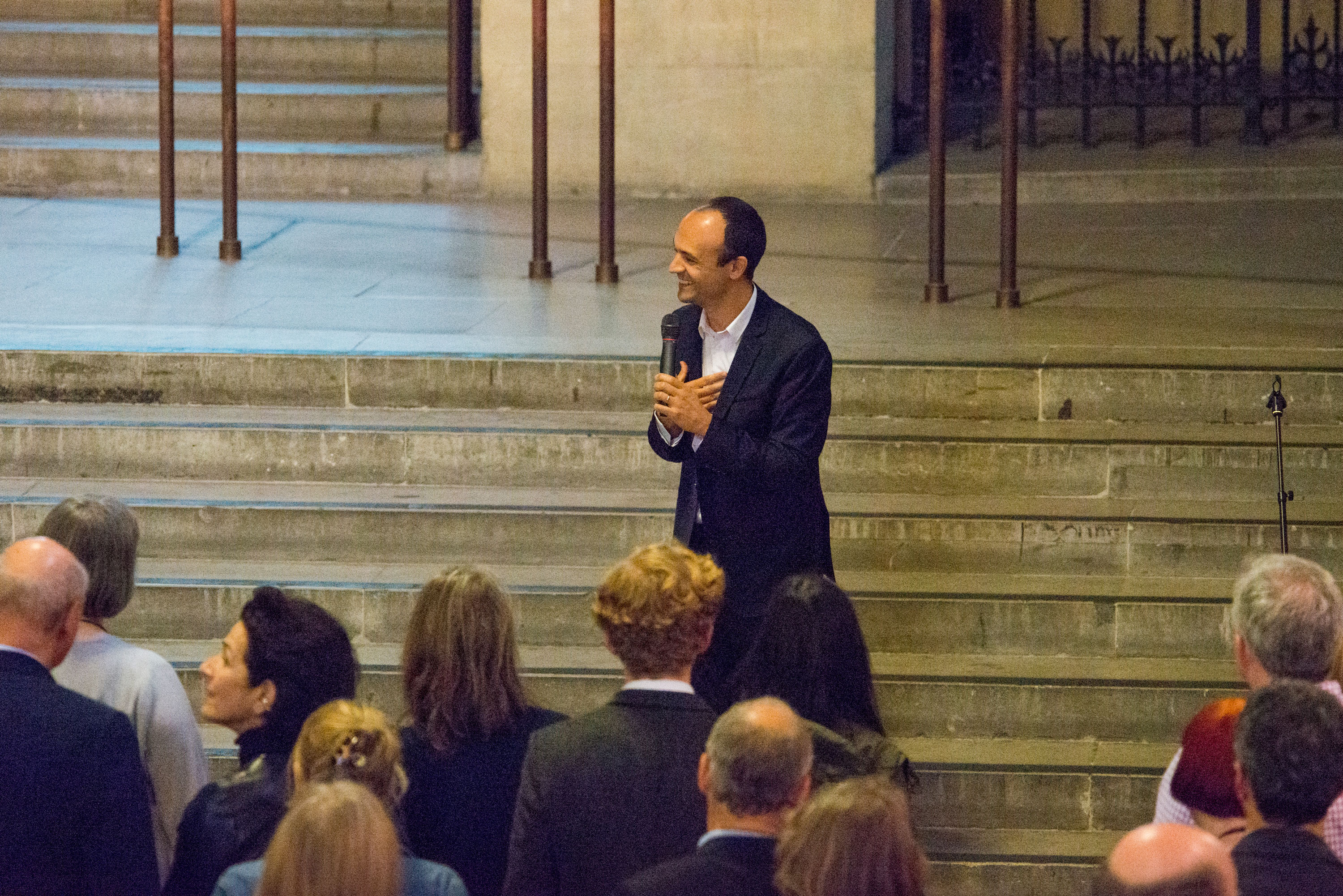 Jorge Otero-Pailos introducing his work The Ethics of Dust (2016) at Westminster Hall, London. Photograph: Will Eckersley, 28 June 2016